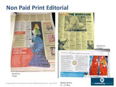Non Paid Print Editorial